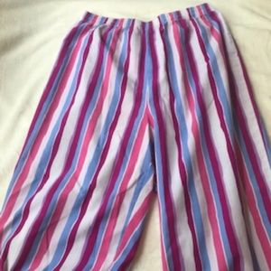 L.L. BEAN Lightweight Striped Pajama Pants 14-16